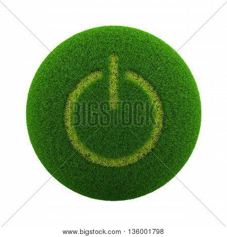 Grass Sphere Power Button Icon
