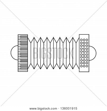 Bandoneon, tango instrument icon in outline style isolated on white background