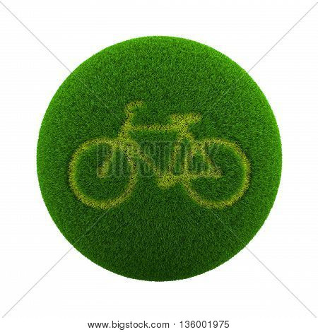 Grass Sphere Bicycle Icon