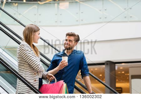 Happy Couple Spending Time Shopping
