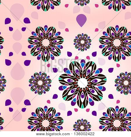 Pattern flower. A vector illustration for your fine female romantic design.