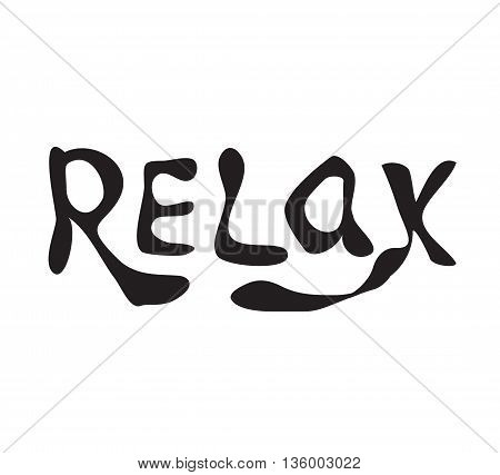 Relax. Hand drawn lettering. Calligraphy vector illustration