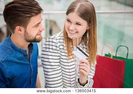 Couple Talking About Shopping