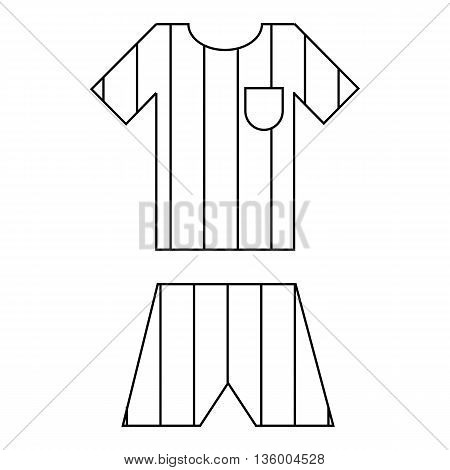 Argentina soccer team uniform icon in outline style isolated on white background