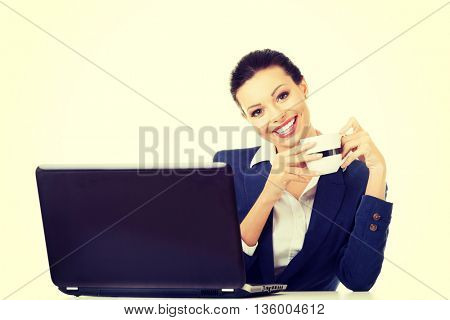 Beautiful businesswoman at work.