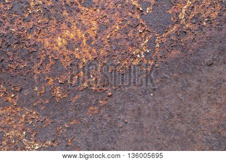 creative background of rusty metal, painted gray paint carelessly, grunge metal surface, great background or texture for your project