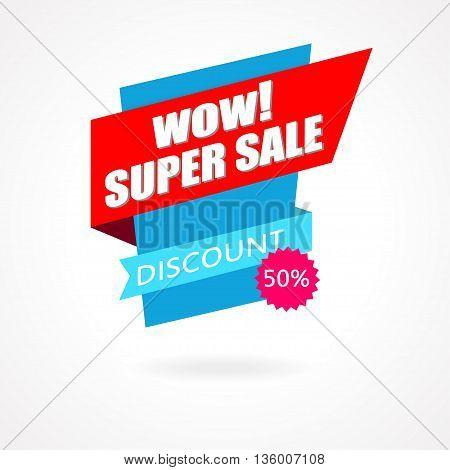 Super Sale Weekend special offer poster banner background. Vector illustration