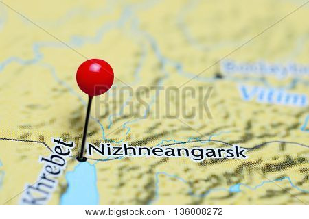 Nizhneangarsk pinned on a map of Russia