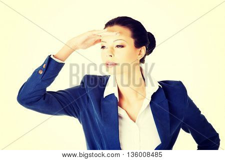 Business woman looking away