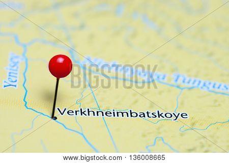 Verkhneimbatskoye pinned on a map of Russia