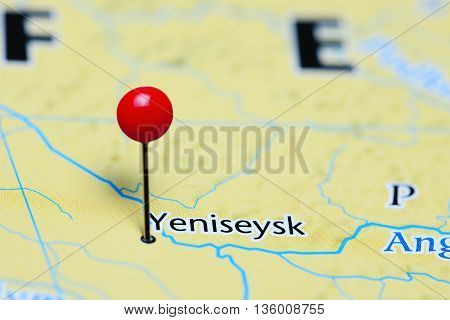 Yeniseysk pinned on a map of Russia