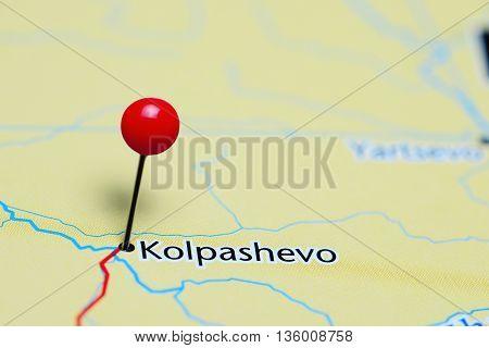 Kolpashevo pinned on a map of Russia
