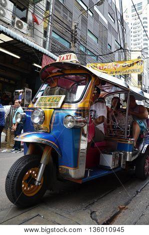 Tuk Tuk Taxi On The Street In Bangkok