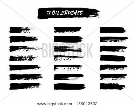 Vector Set Of  Brush Strokes.