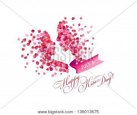 July 6 - Happy kiss day. Congratulation card