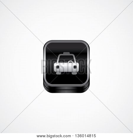 taxi cab metal plate theme icon button vector art illustration