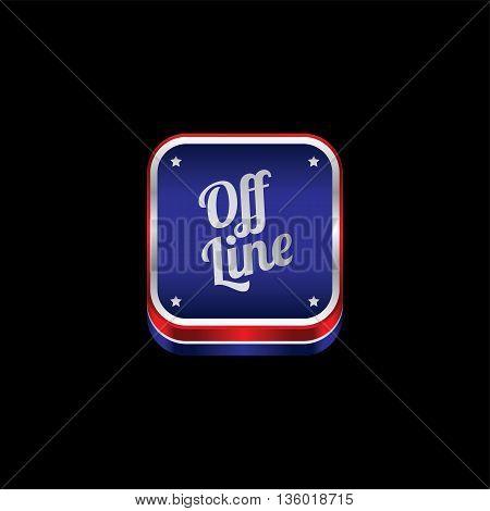website metal plate theme offline icon button vector art illustration