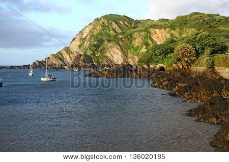 The craggyrocky coastline of North Devon near Ilfracombe