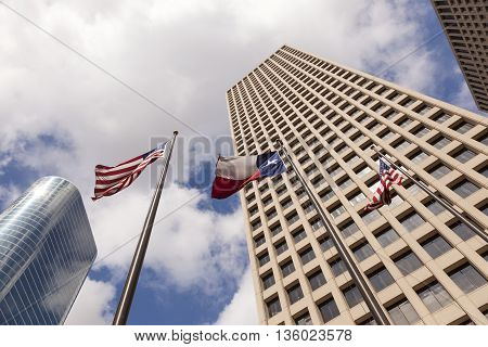 Skyscrapers in Houston downtown district. Texas United States