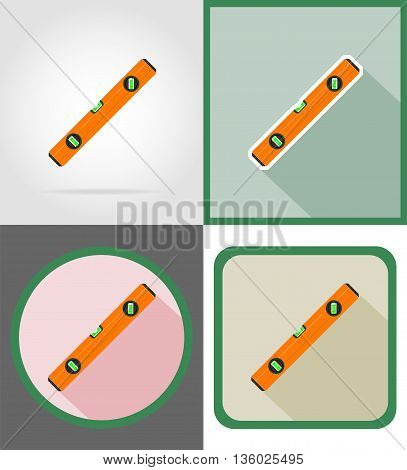 level repair and building tools flat icons vector illustration isolated on white background