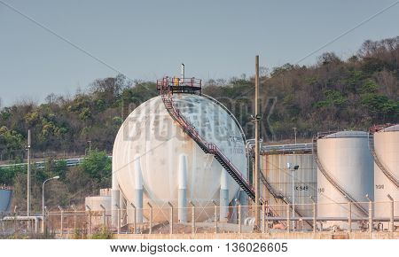 Oil Refinery Tanks Petroleum