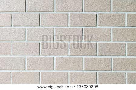 Closeup surface brick pattern at old stone brick wall texture background