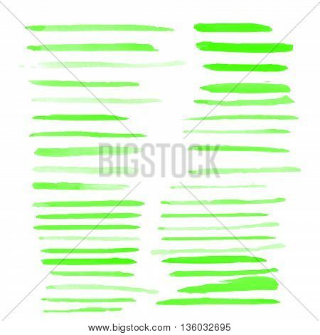 Water color brushes 39 blob shapes set on paper art use for custom brush in Photo editor or use in commercial color collection vector illustrations