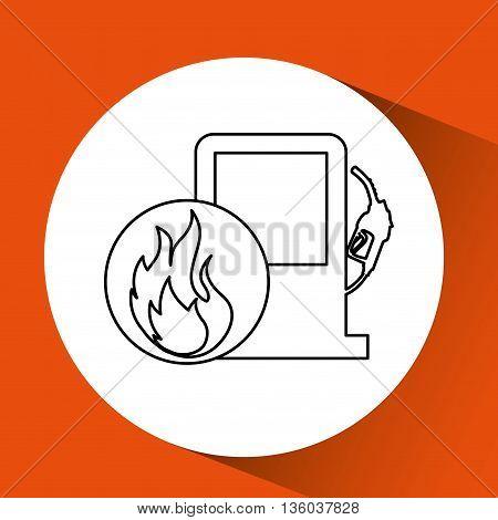 gas station design, vector illustration eps10 graphic