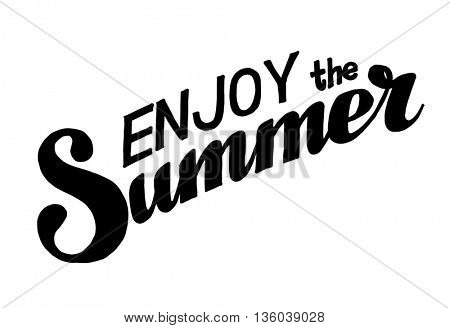 Hand drawn lettering elements for Summer calligraphic designs.