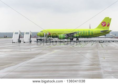 Airbus A320 S7 Airlines In The Aircraft Stands
