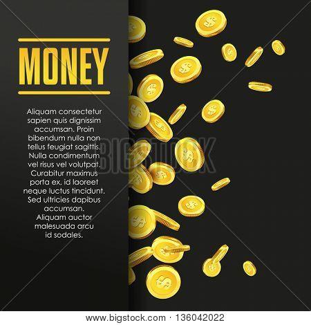 Money poster or banner design template.