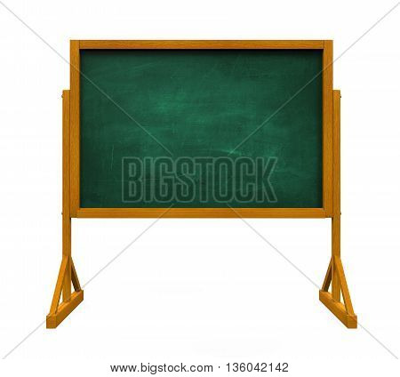 Chalkboard isolated on white background. 3D render
