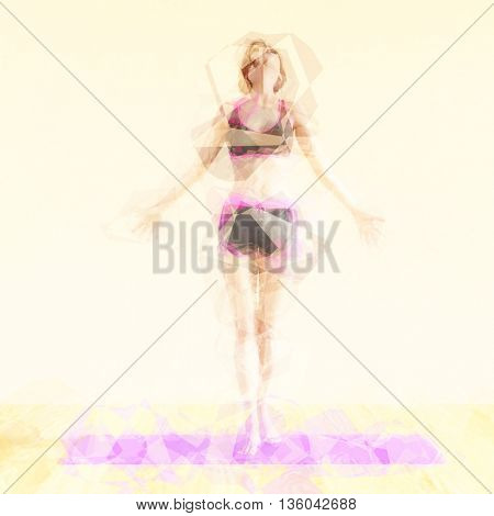 Zen State Concept Illustration with Woman Reaching Peacefulness