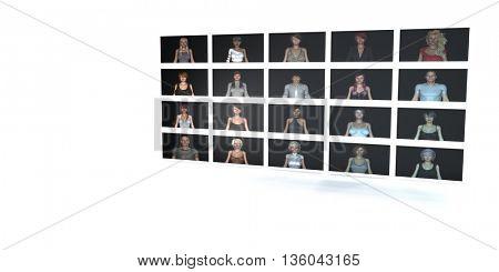 Online Friends on Social Network with Status Update 3d Illustration Render
