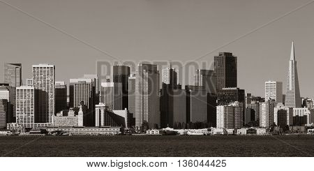 San Francisco city skyline panorama with urban architectures.