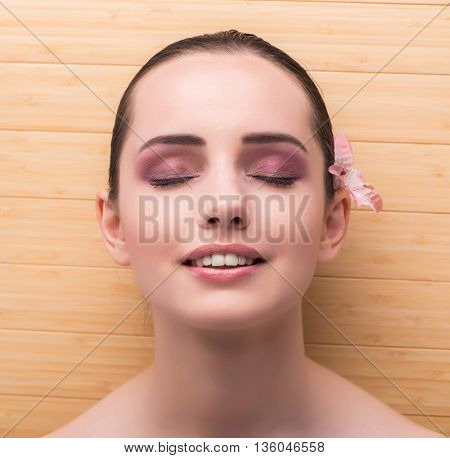 Young woman preparing for spa session