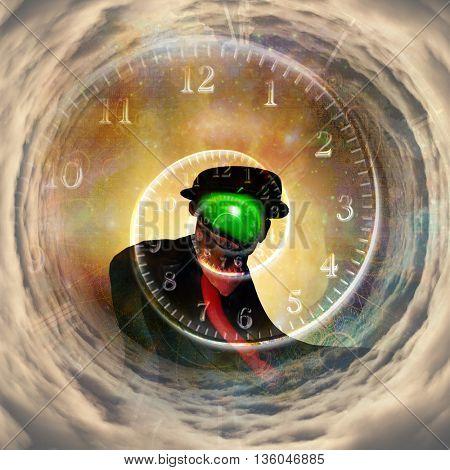 Magritte time 3D Render
