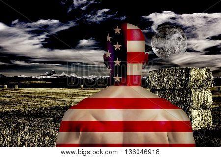 American 3D Render