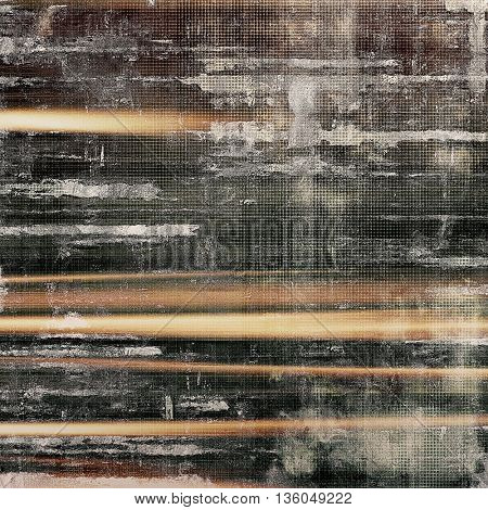Vintage textured background with copy space. Old style backdrop with different color patterns: yellow (beige); brown; gray; black; white