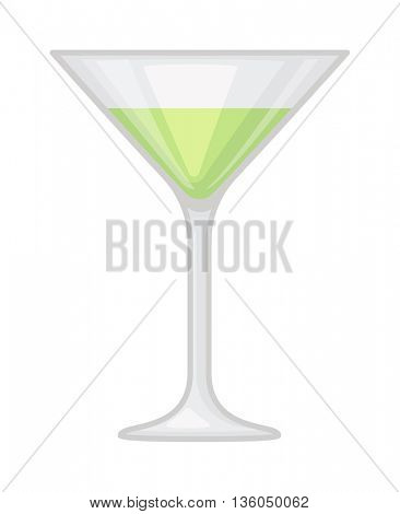 Alcohol cocktail vector illustration.