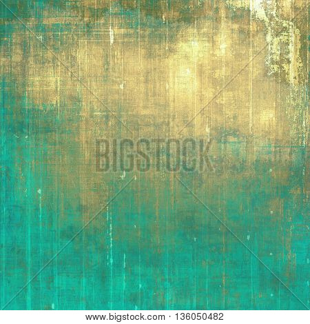 Retro style graphic composition on textured grunge background. With different color patterns: yellow (beige); brown; gray; green; blue; cyan