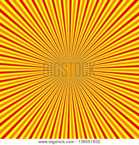 Hot Sun Burst Stripe Background Vector Illustration