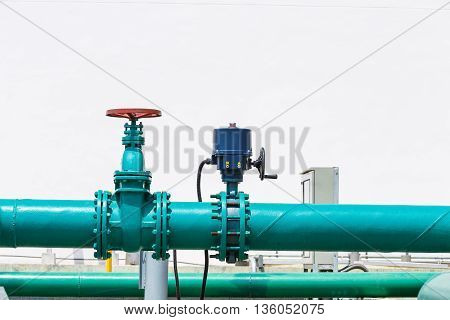 Pump And Control Valve On Water Pipe