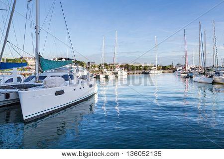 Harbor Of Port Louis Capital Of Mauritius