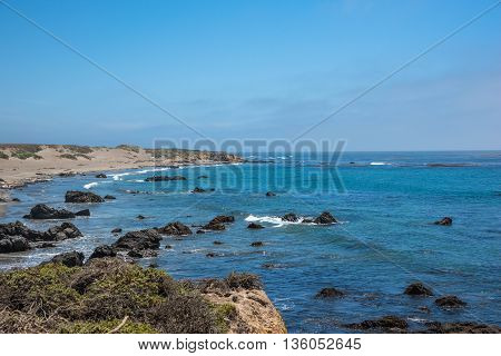 Scenic View of the California Coastline Pacific Highway 1