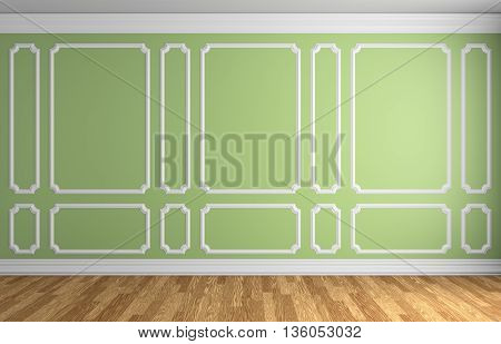 Light Green Wall In Classic Style Room