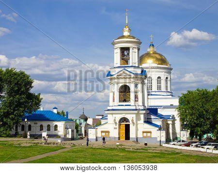 Voronezh, Russia - June 03, 2013, Pokrovsky Cathedral Church, Voronezh