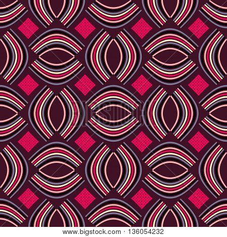 Background vector illustration seamless pattern of colored ovals and squares.
