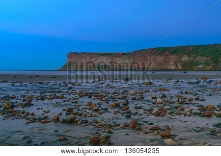 Twilight Cliff at Saltburn by the sea North Yorkshire UK