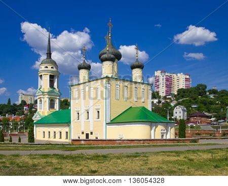Voronezh, Russia - June 07, 2013, Church of the assumption on the Admiralty embankment, Voronezh